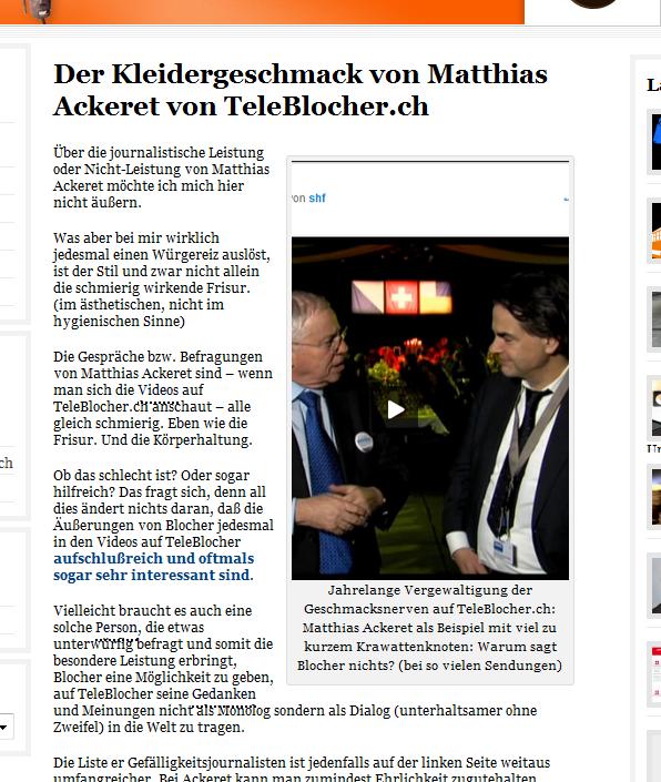 Hat Matthias Ackeret SchweizerZeitung.ch gelesen?