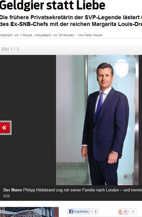 Philipp Hildebrand, er gilt als extrem eitel, aber hat wohl kein Geld für einen Schneider? (Bildschirmfotoausriß: Blick.ch)