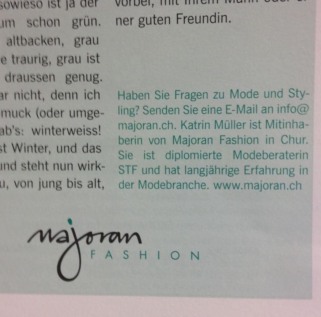 Fotoausriß: Churer Magazin