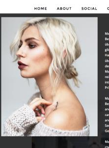 Sich die Haare färben, aber nicht nachfärben bzw. die Haarwurzeln nicht mitärfen (wie auch immer) sieht nicht schön aus (Bildschirmfotoausriß: Modeblog von Masha Sedgwick)
