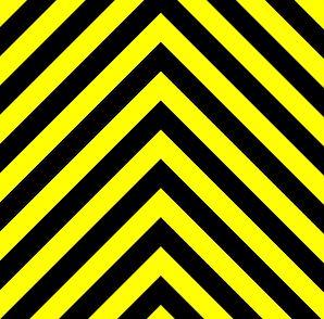 Oft auf Warnschildern oder Warnsignalisationen zu finden: Die Farbe Gelb warnt!
