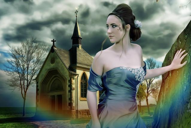 Ein farbiges Brautkleid hat den Vorteil, daß es nicht im Kleiderschrank rumgammelt, sondern auch nach der Hochzeit, z. B. auf einem Ball, im Theater oder in der Oper getragen werden kann