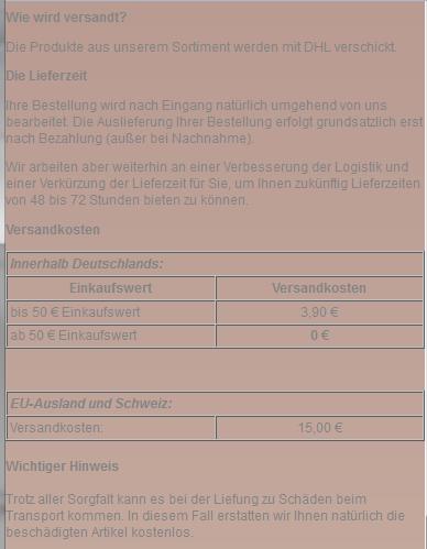 Viele deutsche Anbieter liefern auch durchaus in die Schweiz (Bildquelle: AGB des Brautmodeanbieters Brautmode-direkt.de aus Berlin)