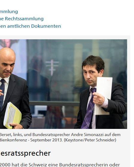 Bild André Simonazzi: Bundeskanzlei-Webseite bzw. Keystone (Schlüsselstein : - )